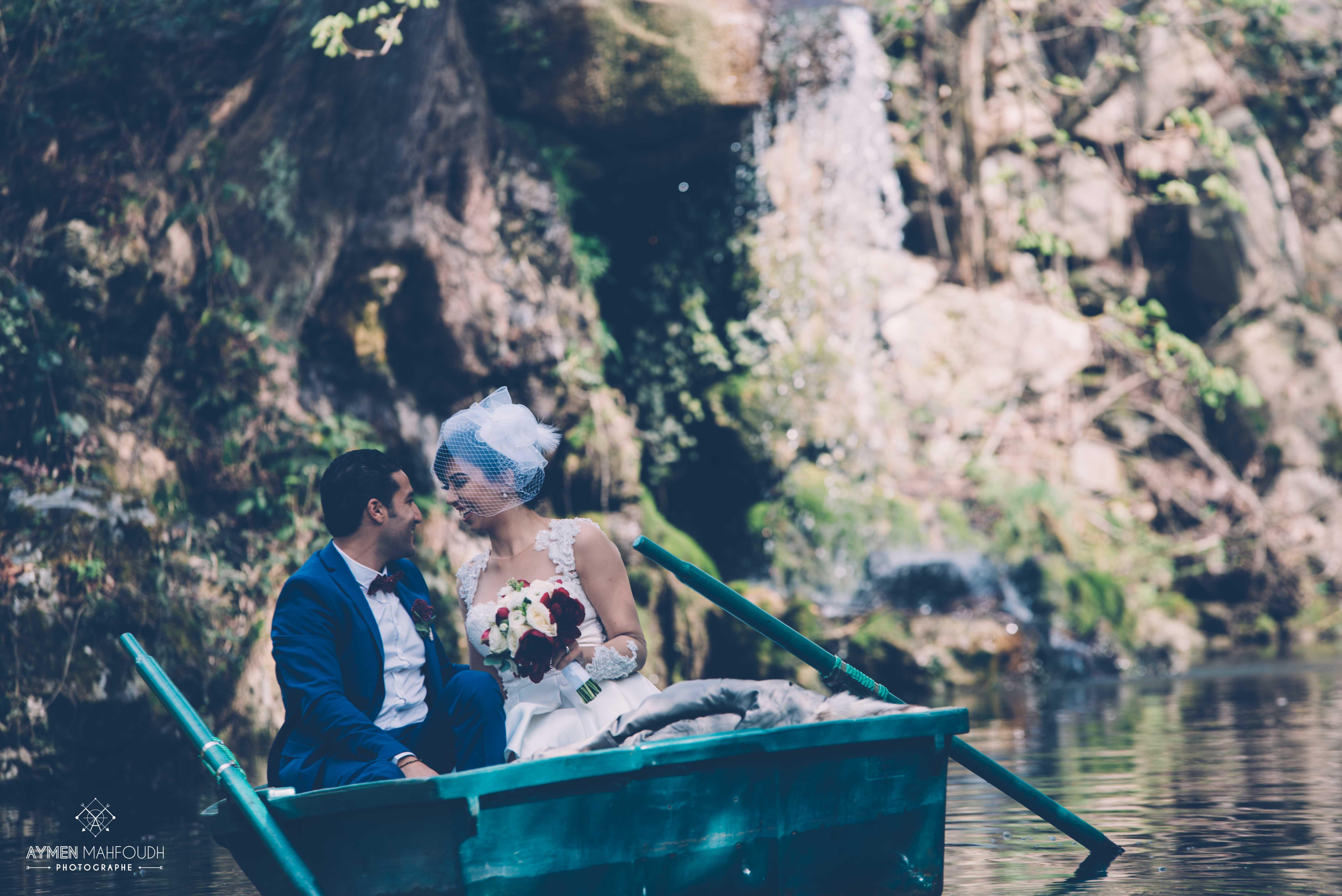 couple sur les barques Vincennes