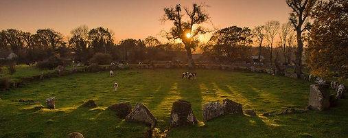 Sun-Through-Grange-Stone-Circle-Lough-Gu