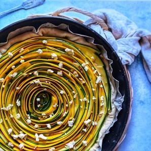 Tarte courgettes & feta