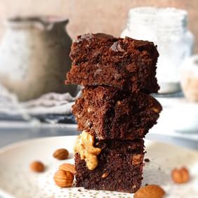Brownie Chocolat, beurre de cacahuètes