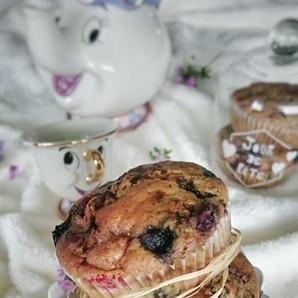 Muffins Framboises, Myrtilles & Chocolat Blanc