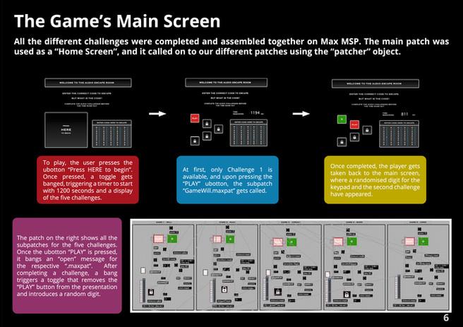 Game's Main Screen