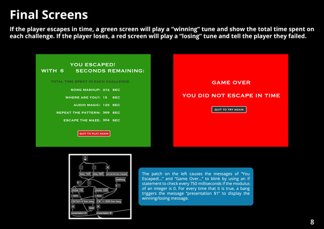 Final Screens
