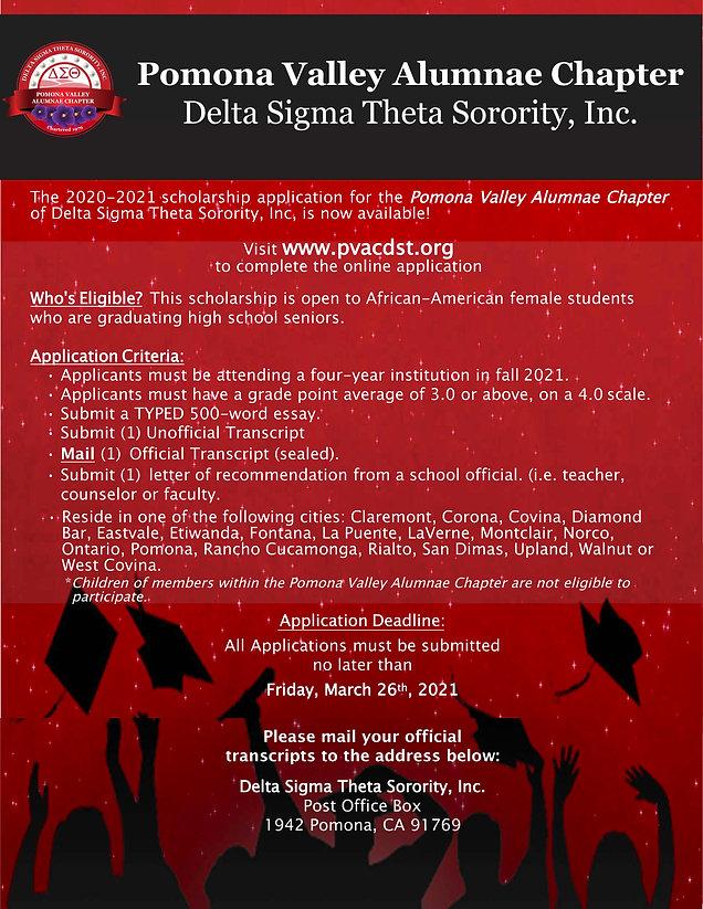 DST Scholarship Flyer For 2020-21 FINAL.