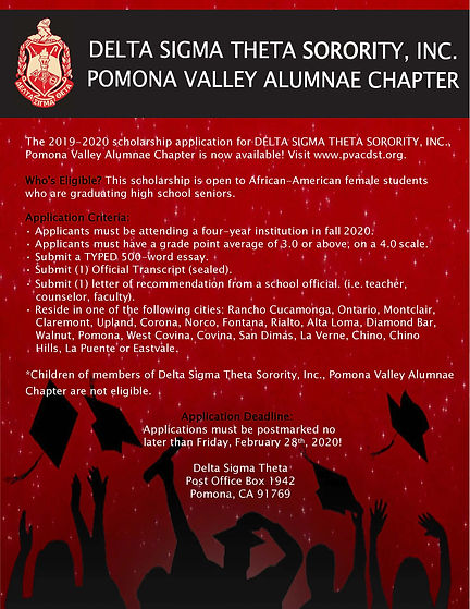 DST Scholarship Flyer For 2019 -   2020