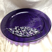 Lilac Round with Mosaic Insert
