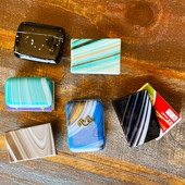 Matchbook covers with a variety of designs.