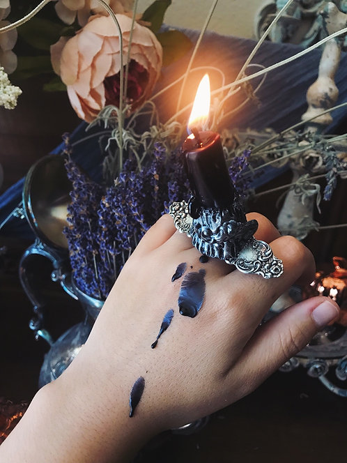 """The """"Blackened Iron"""" Into the Unknown Candle Ring"""