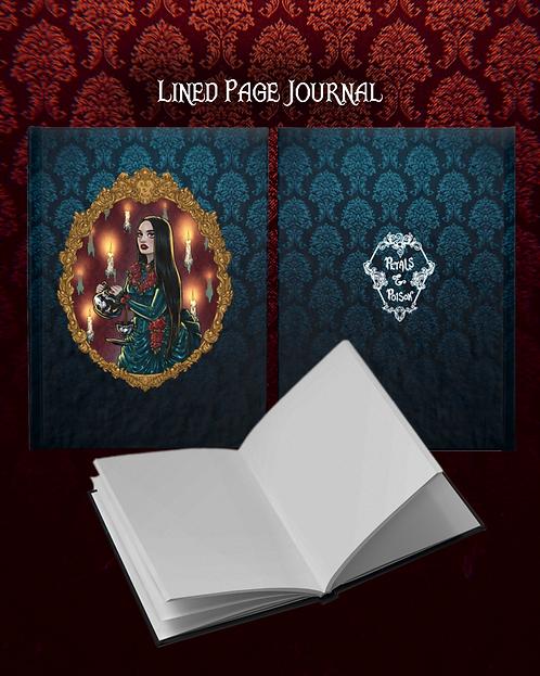 """Haunted Frame""  Ruled Line Journal"