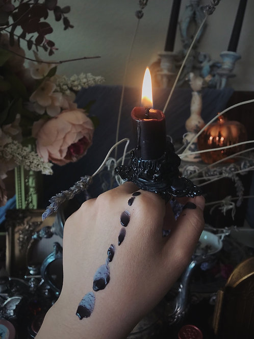 """The """"Crow""""  Into the Unknown Candle Ring"""