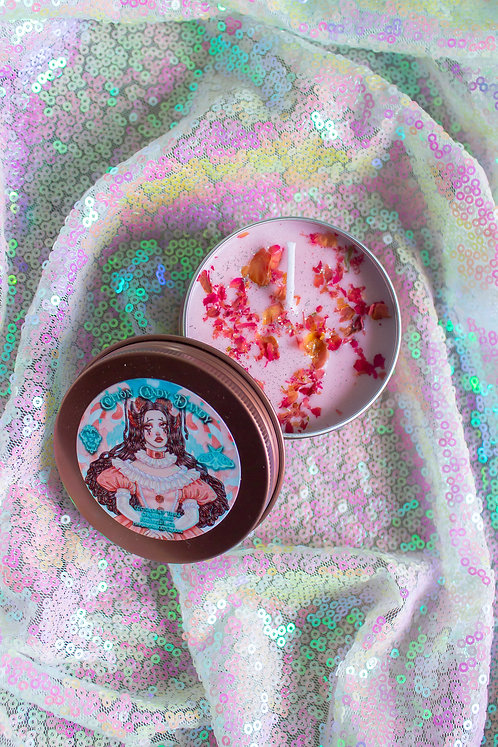 """The """"Cotton Candy Dandy"""" Tea Candle 🎂🌹"""