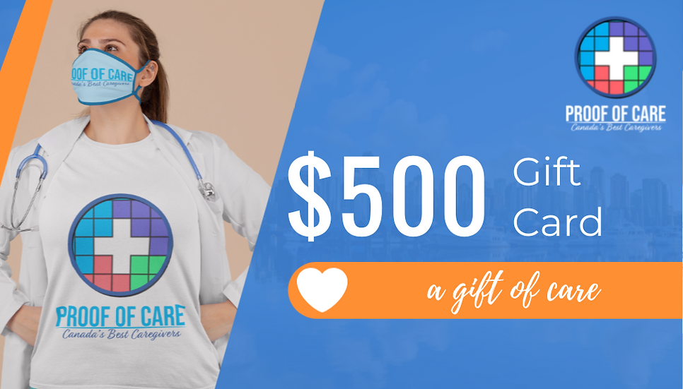 Proof of Care $500 Gift Certificate