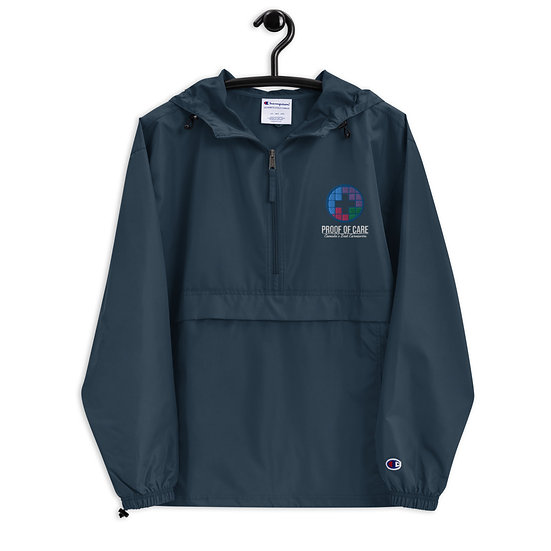 Proof of Care Embroidered Champion Packable Jacket