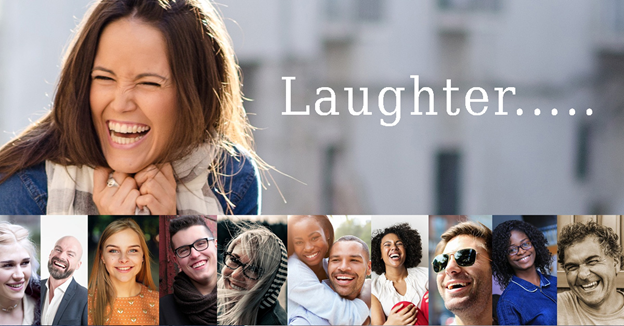 Best Medicine - Laughter. Many pictures of people laughing.