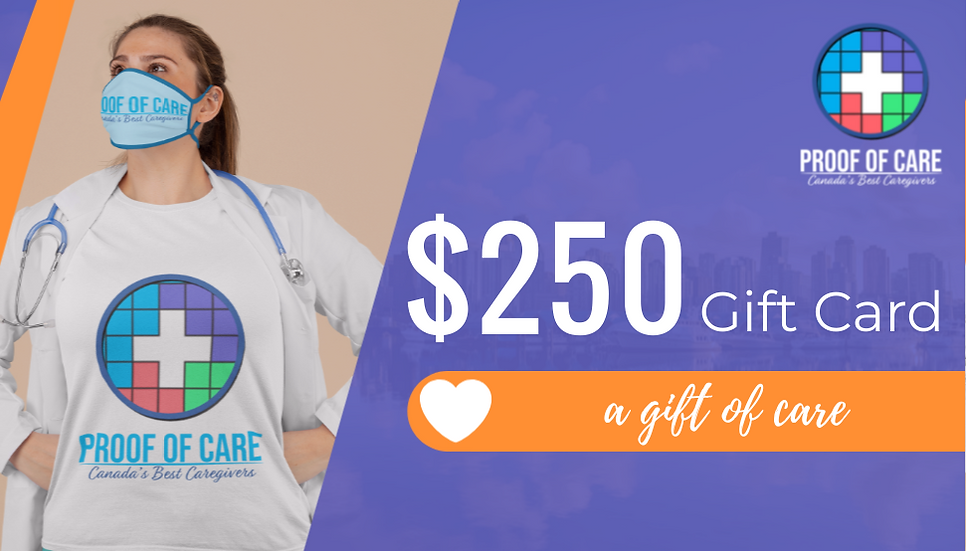 Proof of Care $250 Gift Certificate