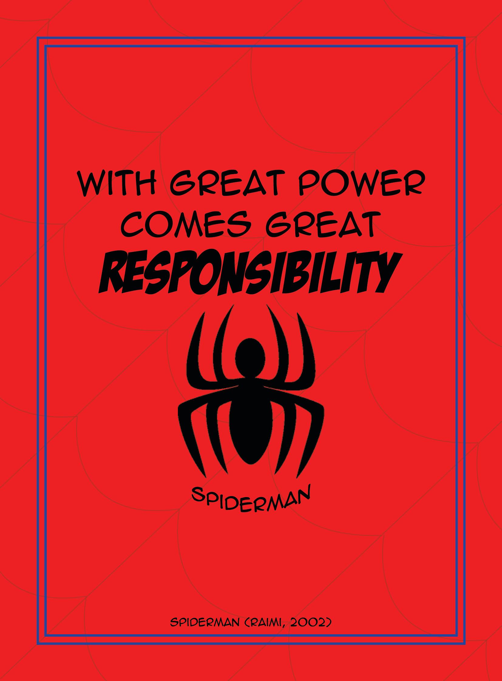 Spiderman film quote