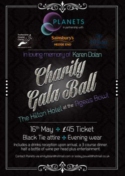 Charity Ball poster design