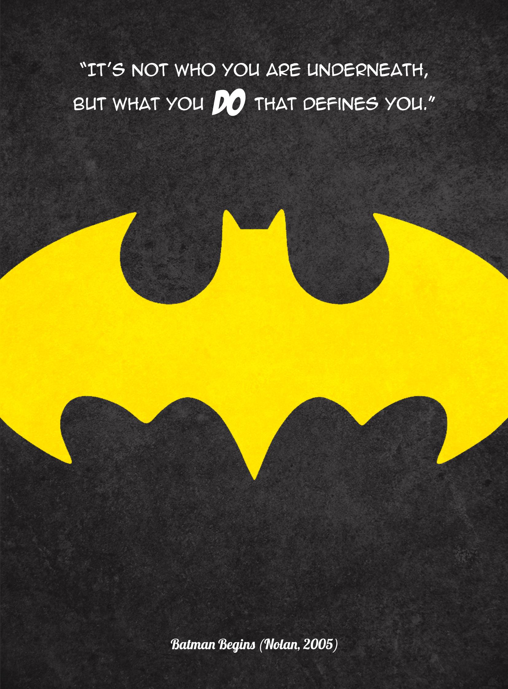 Batman film quote