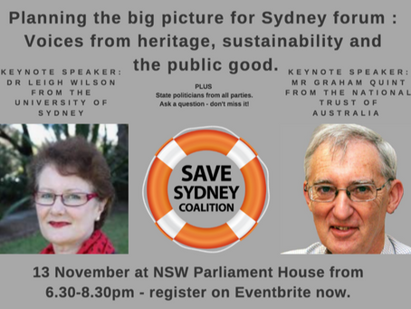Planning the big picture for Sydney forum