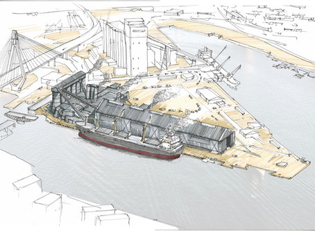 Artist impressions: What Glebe Island will be vs. what Glebe Island could be