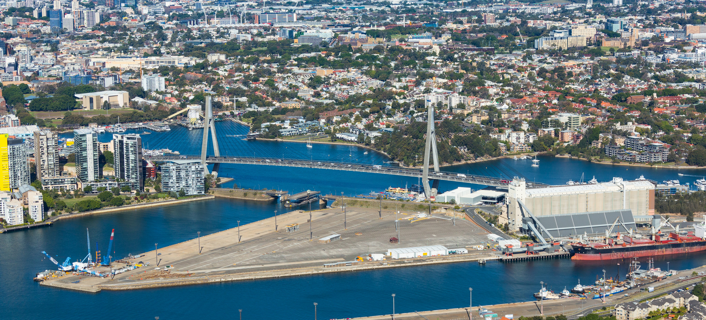 Aerial view of Glebe Island