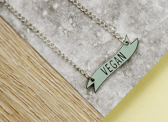 Vegan Banner Necklace
