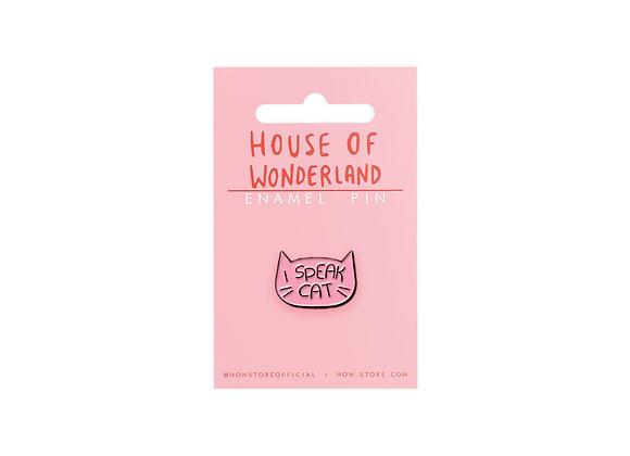 Speak Cat Enamel Pin