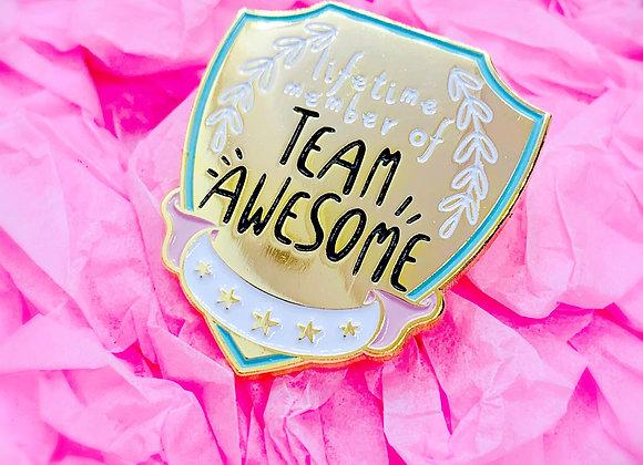 Team Awesome Enamel Pin