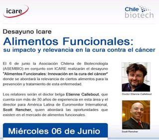 """Desayuno """"Alimentos Funcionales: Innovación en la cura del cáncer"""""""