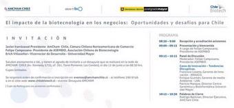 """Desayuno AMCHAM: """"El Impacto de la Biotecnología en los negocios: Oportunidades y desafíos para Chil"""