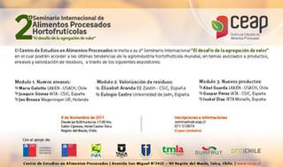 """2° Seminario Internacional de Alimentos Procesados Hortifrutícolas: """"El desafío de la agregación de"""