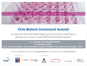 Chile Biotech Investment Summit