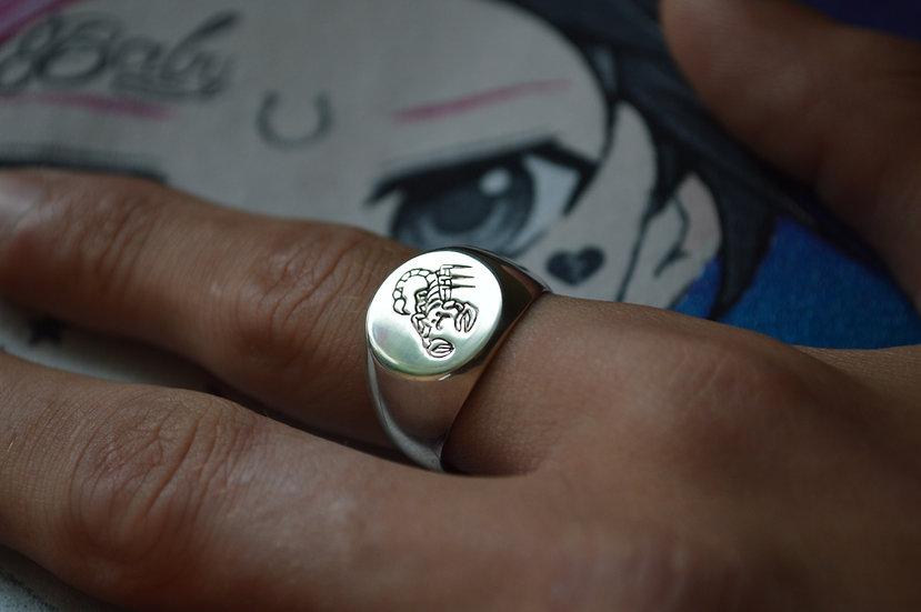 BRATWURST Sad Scorpion Ring