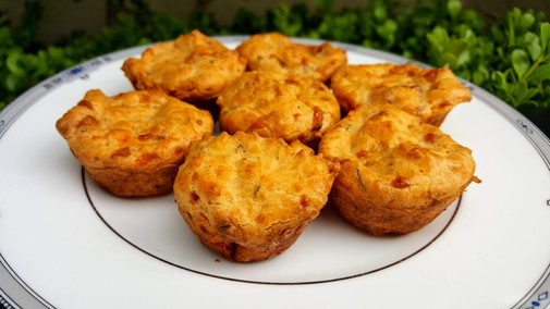 Tomato and comte cheese muffins: $1.50 each (minimum order of 30)