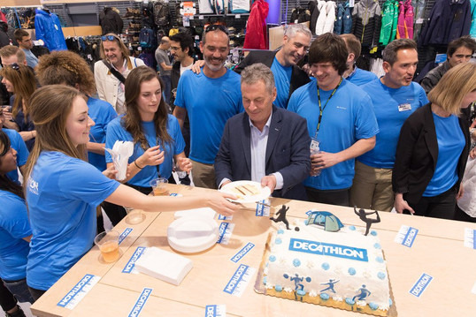 My Petite Box today made the cake for the Grand Opening of the Decathlon Store in San Francisco