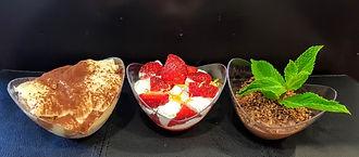 trio tiramisu mousse choco fraises chant