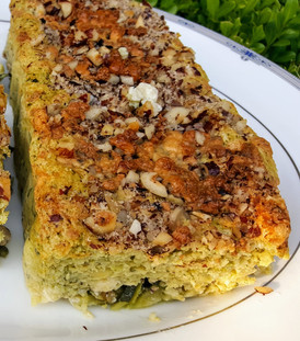 2 cakes: Zucchini, Hazelnut & Blue cheese : $46 (2 loafs size 2-LB Loaf pan)
