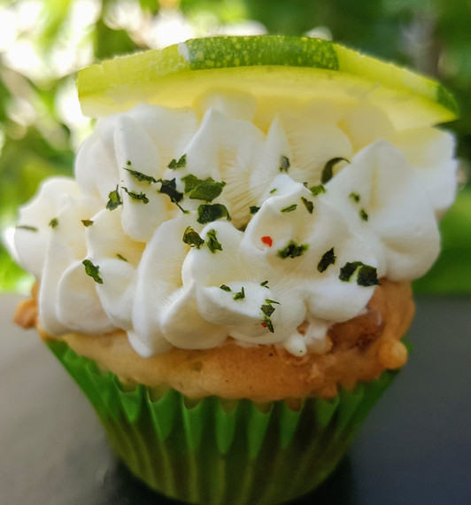 Mini cupcake zucchini chorizo: $2.80 each. (Minimum order of 30)