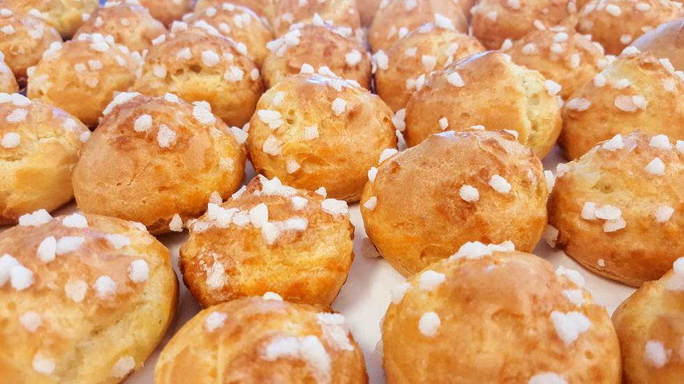 Chouquettes (sugar puffs) : $1.40 each (Minimum order of 30)