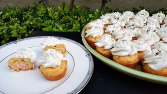 mini muffin salmon & fennel/dill whipped cream: $2.80 each (minimum order of 30)
