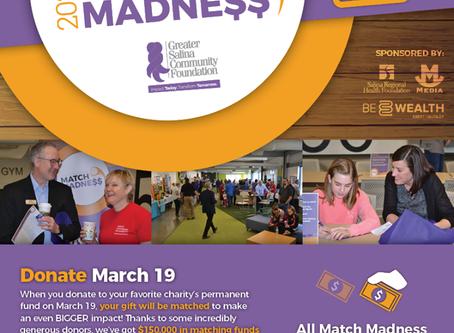 Match Madness 2020 - Greater Salina Community Foundation