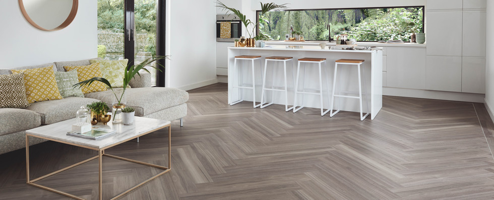 KP141 Urban Spotted Gum Open Plan Kitche