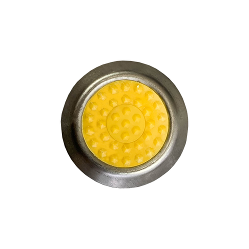 (A102-HY) WARNING STAINLESS STEEL TACTILE (HEXAGON YELLOW)