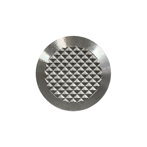 (A102-DS) WARNING STAINLESS STEEL TACTILE (DIAMOND SILVER)