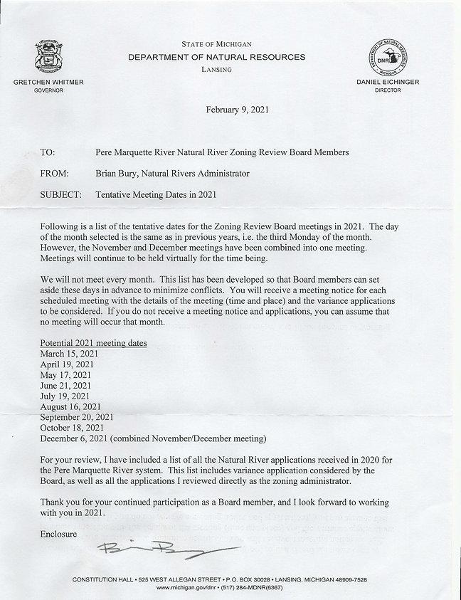 ZoningDNR Natural River Meeting Dates 20