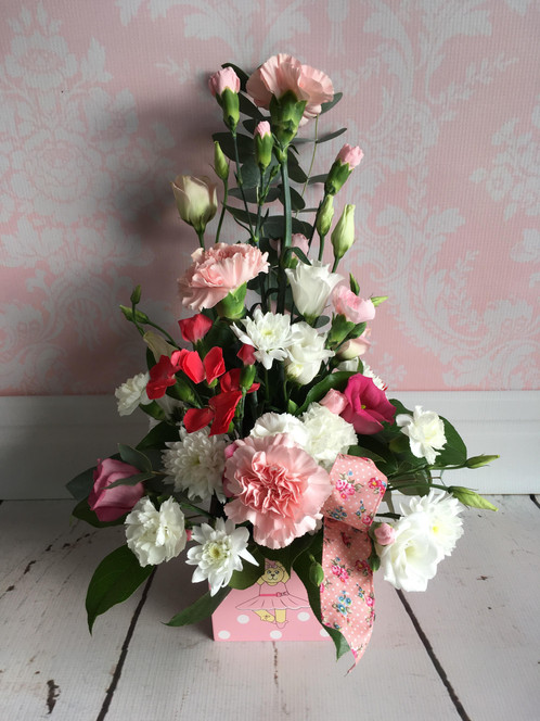 Baby girl arrangement kelly anns flowers newquay deliveries baby girl arrangement kelly anns flowers newquay deliverieswedding funeral gift flowers negle Choice Image