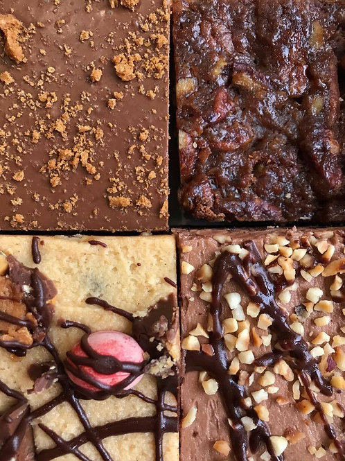 The Treat Box (6 slices) - Mix of Brownies & Cakes