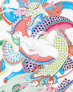 dragon's wife_91.0x72.7cm_순지5배접_2011