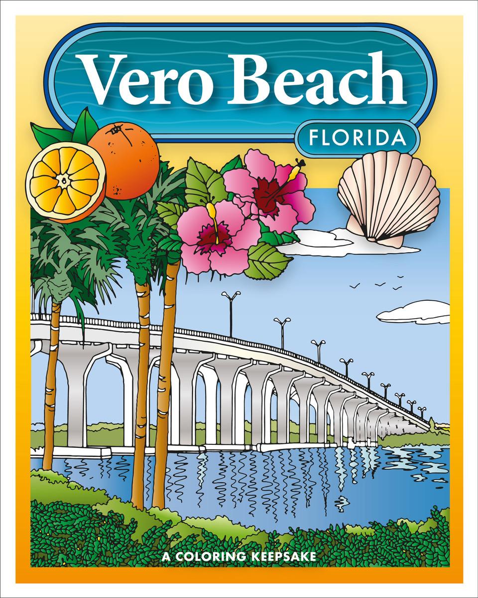 Local artist creates a vero beach coloring book to commemorate her