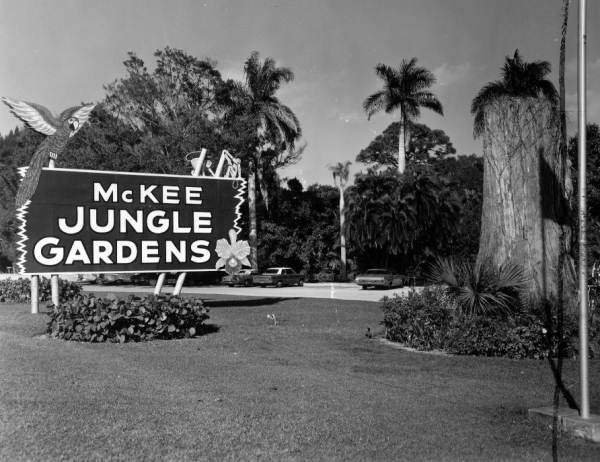 Original Entrance Sign McKee Jungle Gardens